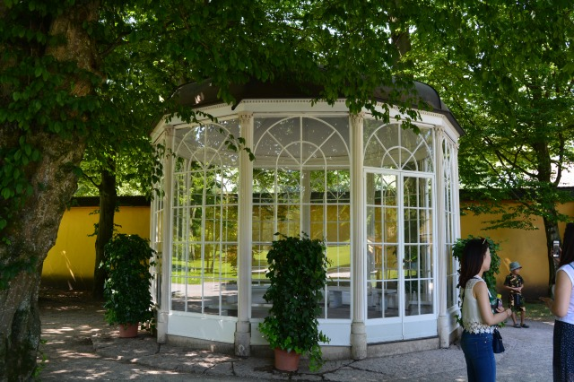 The gazebo from the film