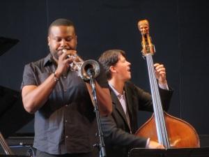 The amazing trumpet of Sean Jones with Jon Hamar on bass